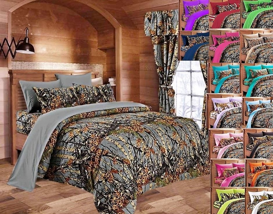 **(7-PC.Camo.Comforter-Bedding-Sets/Deluxe-Camo.Sheet-Sets